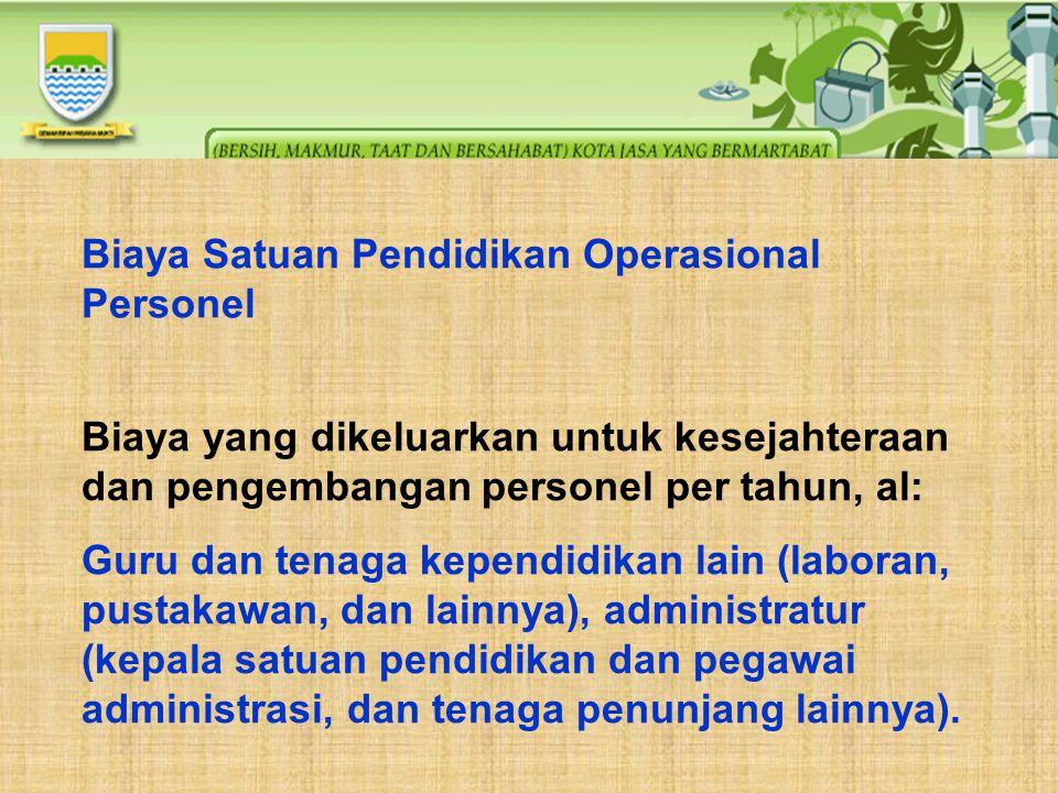 Biaya Satuan Pendidikan Operasional Personel