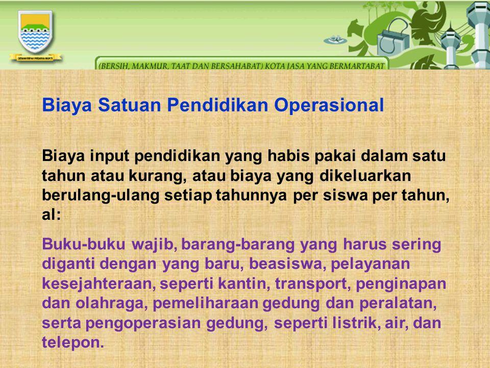 Biaya Satuan Pendidikan Operasional