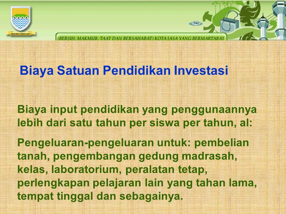 Biaya Satuan Pendidikan Investasi