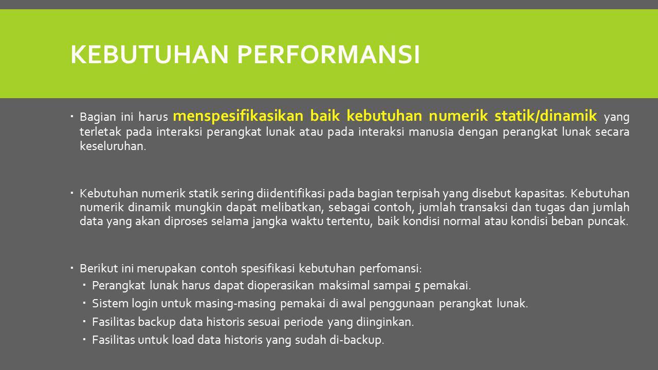 Kebutuhan performansi