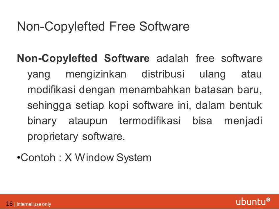 Non-Copylefted Free Software