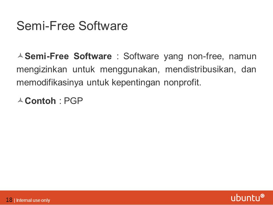 Semi-Free Software