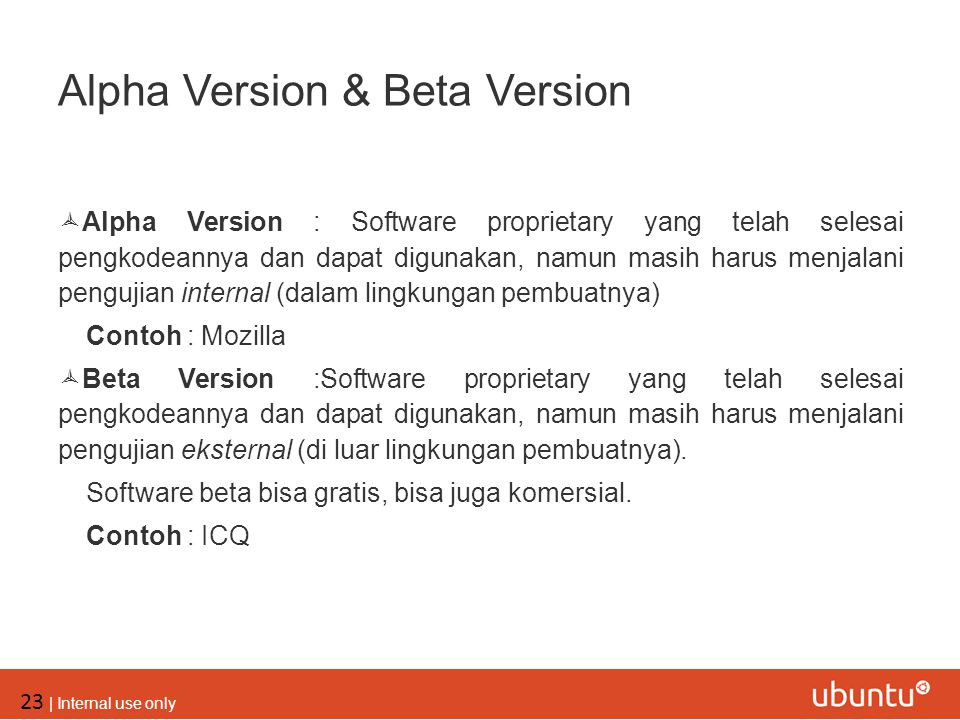 Alpha Version & Beta Version