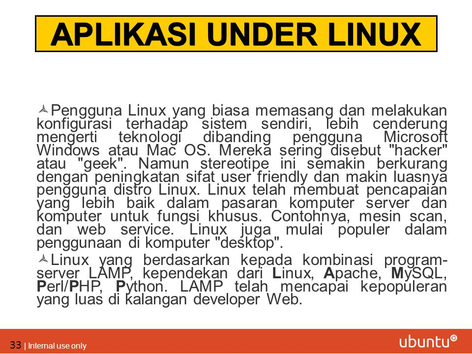 APLIKASI UNDER LINUX