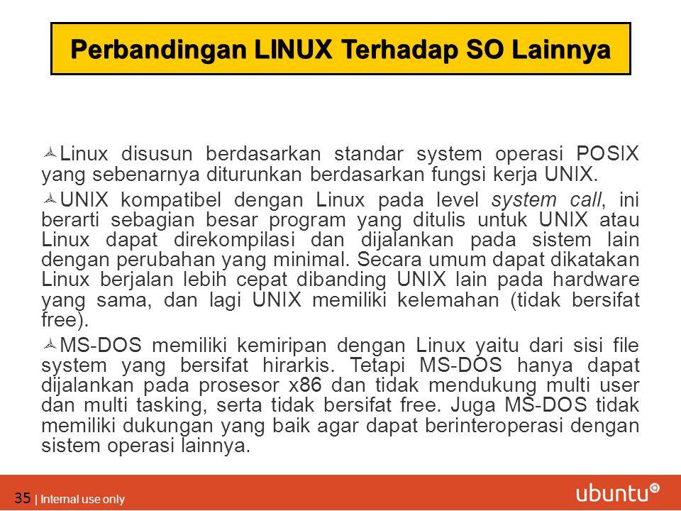 Perbandingan LINUX Terhadap SO Lainnya