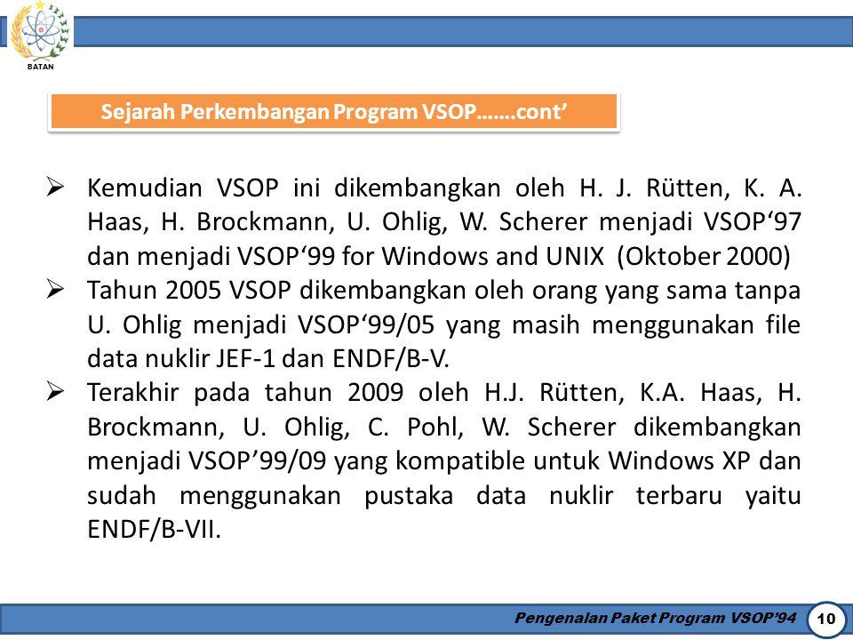 Sejarah Perkembangan Program VSOP…….cont'