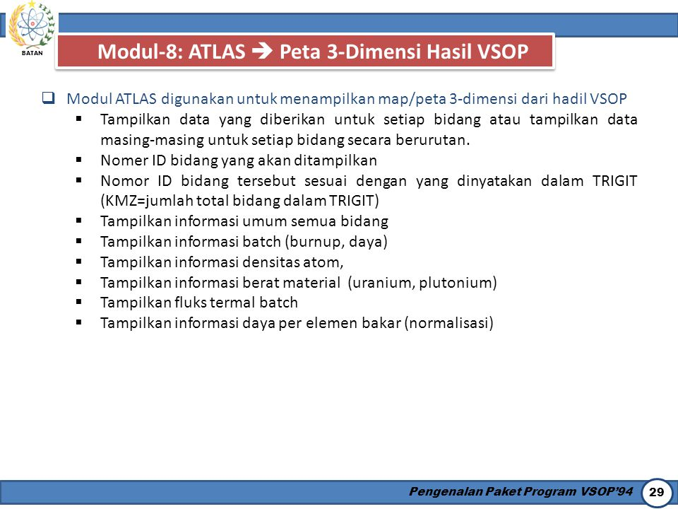 Modul-8: ATLAS  Peta 3-Dimensi Hasil VSOP