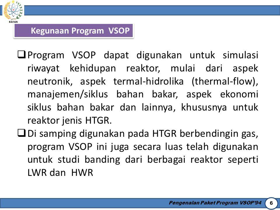 Kegunaan Program VSOP