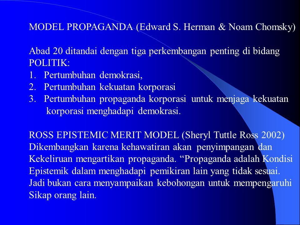 MODEL PROPAGANDA (Edward S. Herman & Noam Chomsky)
