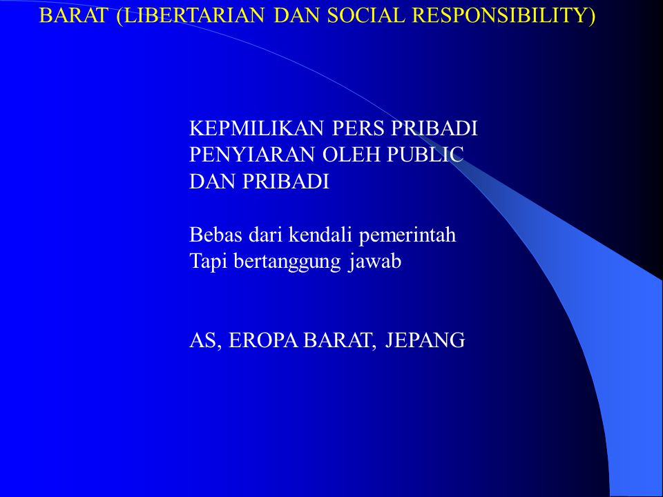 BARAT (LIBERTARIAN DAN SOCIAL RESPONSIBILITY)