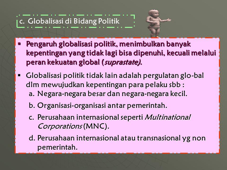 Globalisasi di Bidang Politik