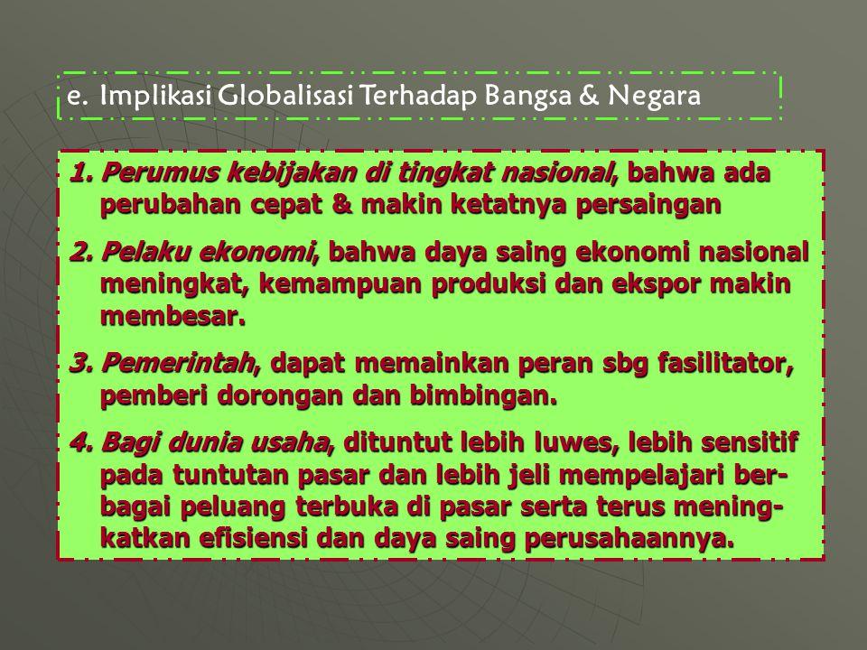 Implikasi Globalisasi Terhadap Bangsa & Negara