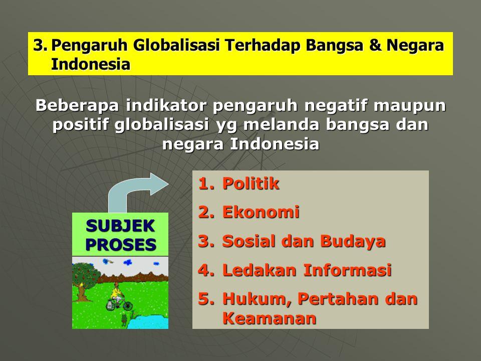 Pengaruh Globalisasi Terhadap Bangsa & Negara Indonesia