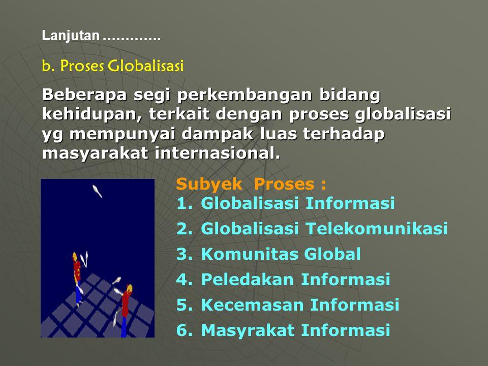 Globalisasi Informasi Globalisasi Telekomunikasi Komunitas Global