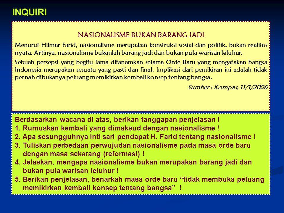 NASIONALISME BUKAN BARANG JADI