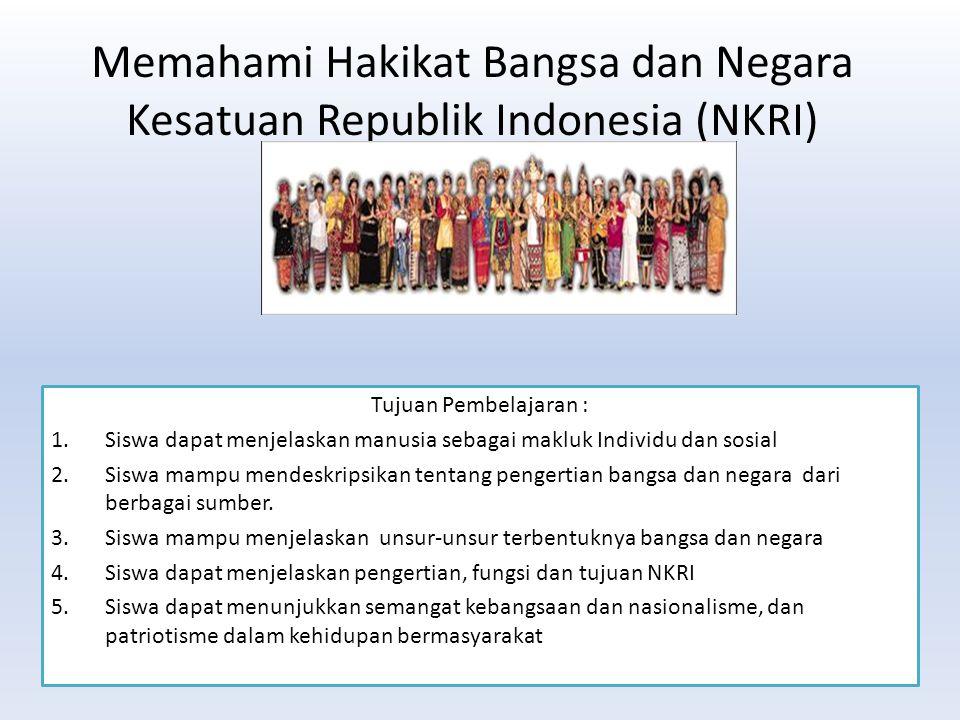 Memahami Hakikat Bangsa dan Negara Kesatuan Republik Indonesia (NKRI)