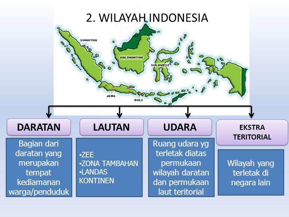2. WILAYAH INDONESIA DARATAN LAUTAN UDARA EKSTRA TERITORIAL