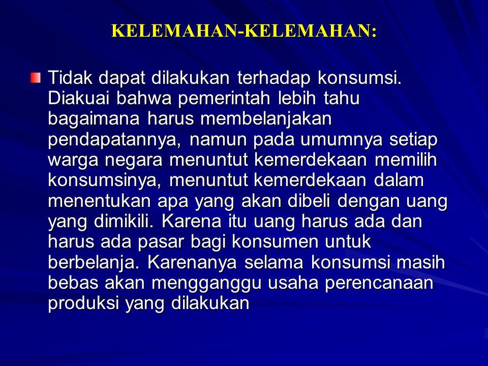 KELEMAHAN-KELEMAHAN: