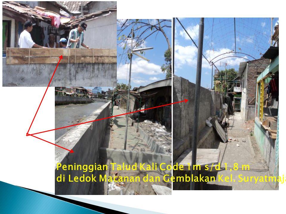 Peninggian Talud Kali Code 1m s/d 1,8 m