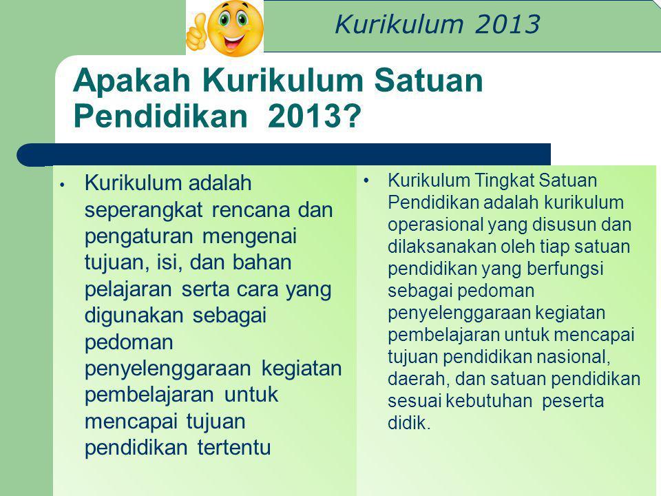 Apakah Kurikulum Satuan Pendidikan 2013
