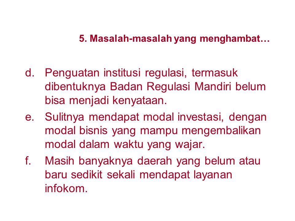 5. Masalah-masalah yang menghambat…