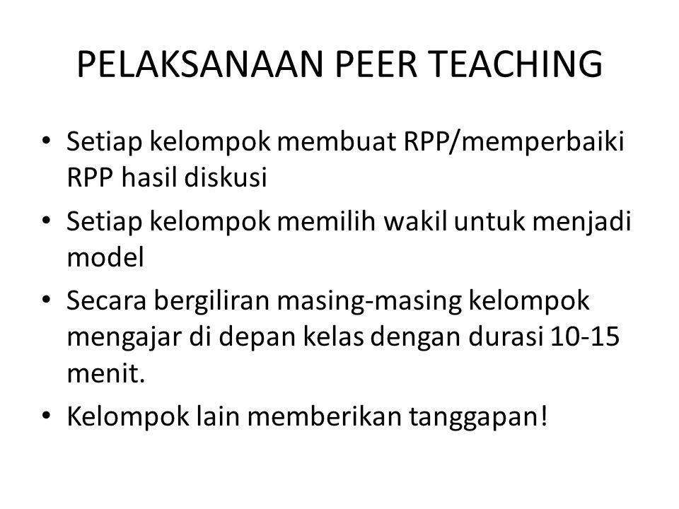 PELAKSANAAN PEER TEACHING