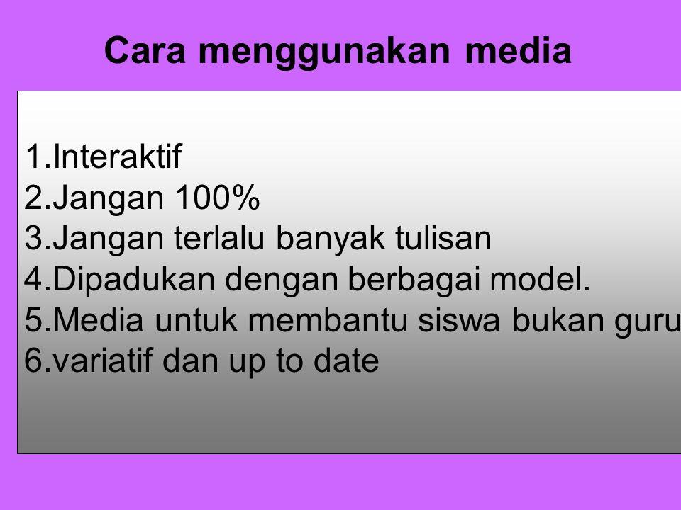 Cara menggunakan media