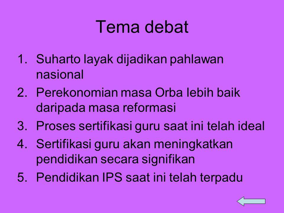Tema debat Suharto layak dijadikan pahlawan nasional