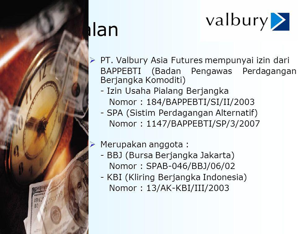 Perkenalan PT. Valbury Asia Futures mempunyai izin dari