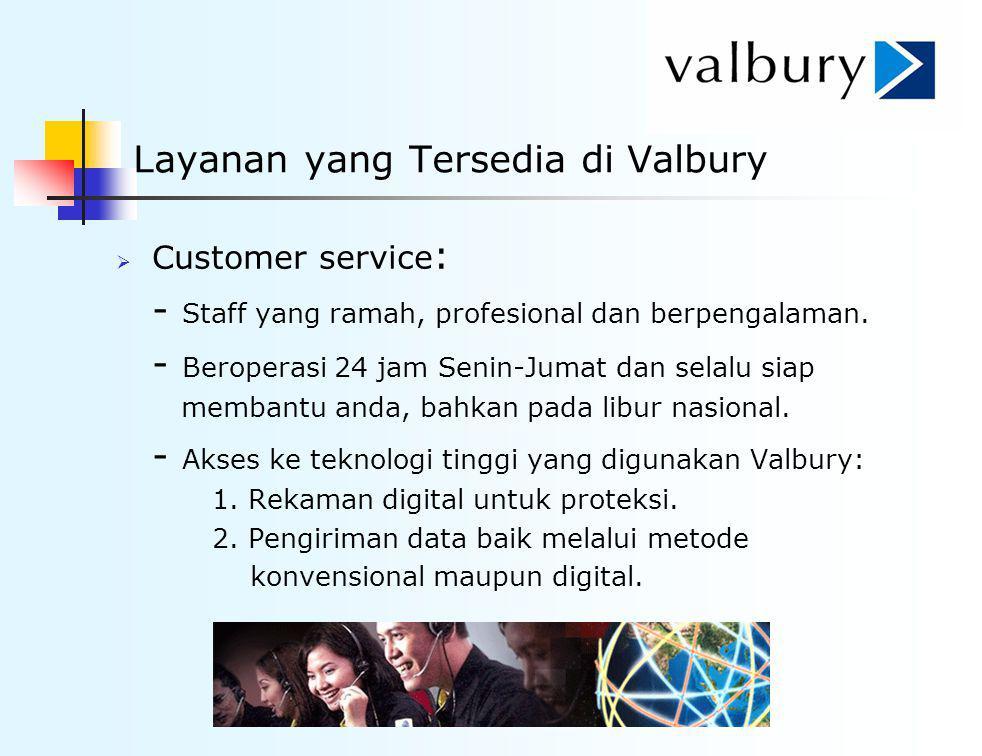 Layanan yang Tersedia di Valbury