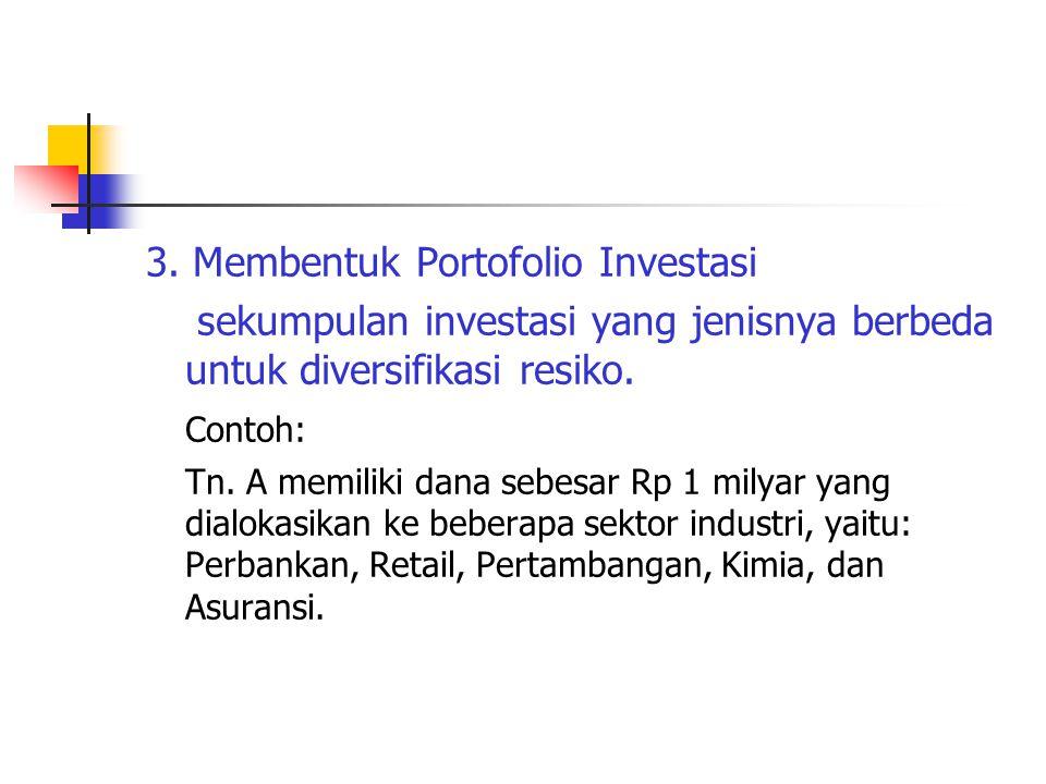 3. Membentuk Portofolio Investasi