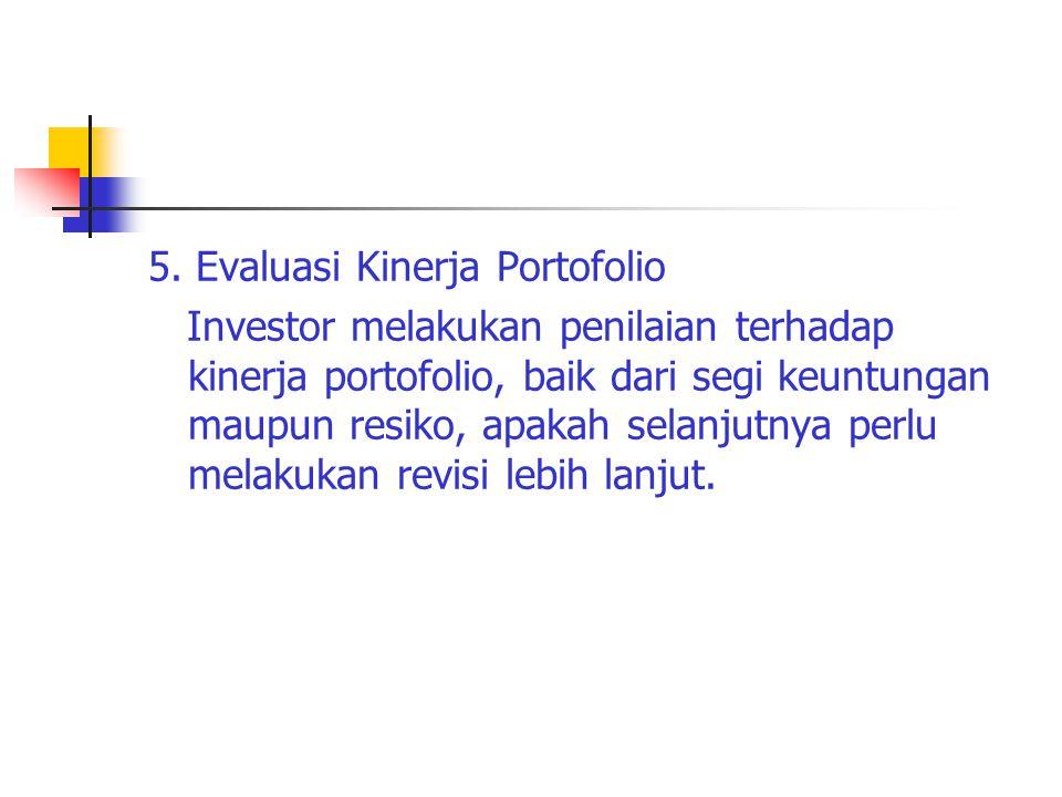 5. Evaluasi Kinerja Portofolio