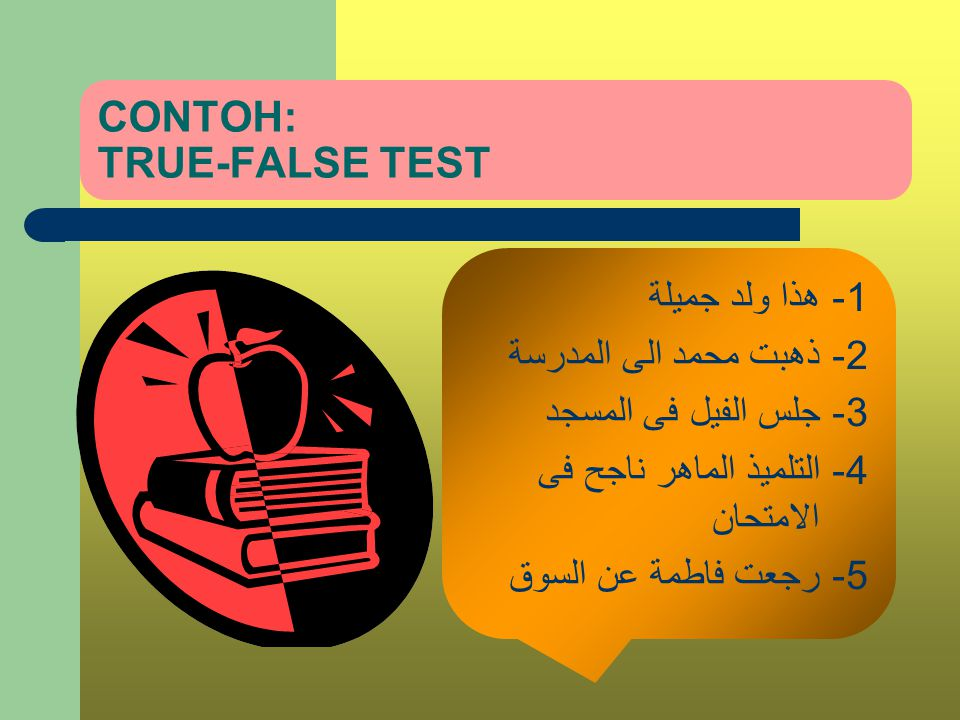 CONTOH: TRUE-FALSE TEST