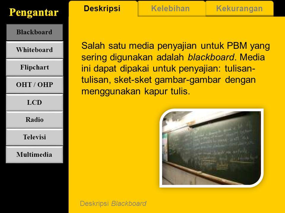 Pengantar Deskripsi. Kelebihan. Kekurangan. Blackboard.