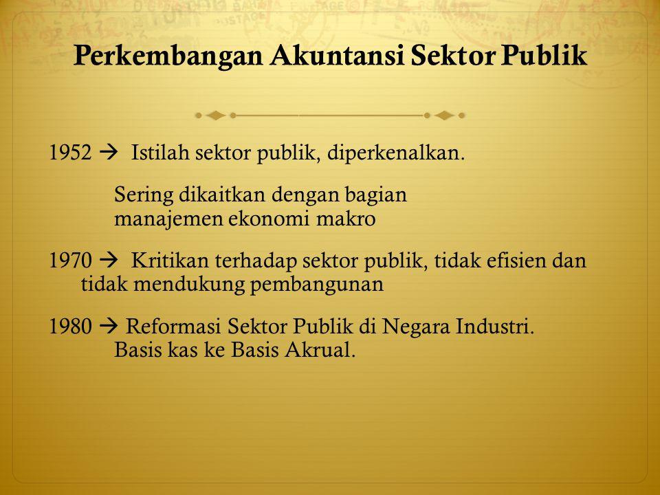 Perkembangan Akuntansi Sektor Publik