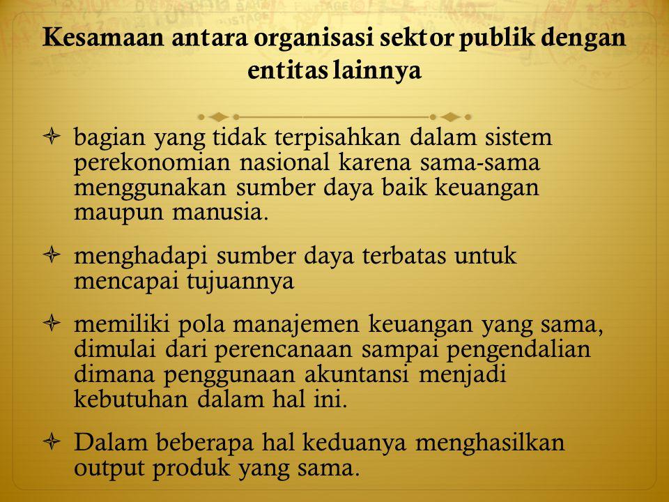 Kesamaan antara organisasi sektor publik dengan entitas lainnya