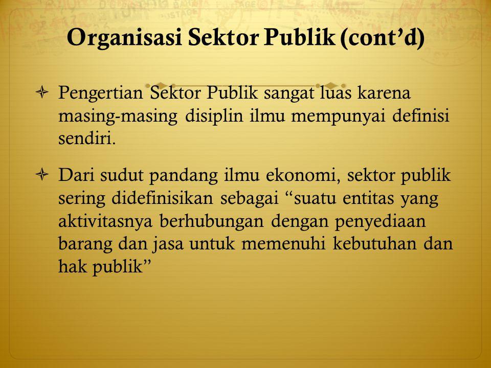 Organisasi Sektor Publik (cont'd)