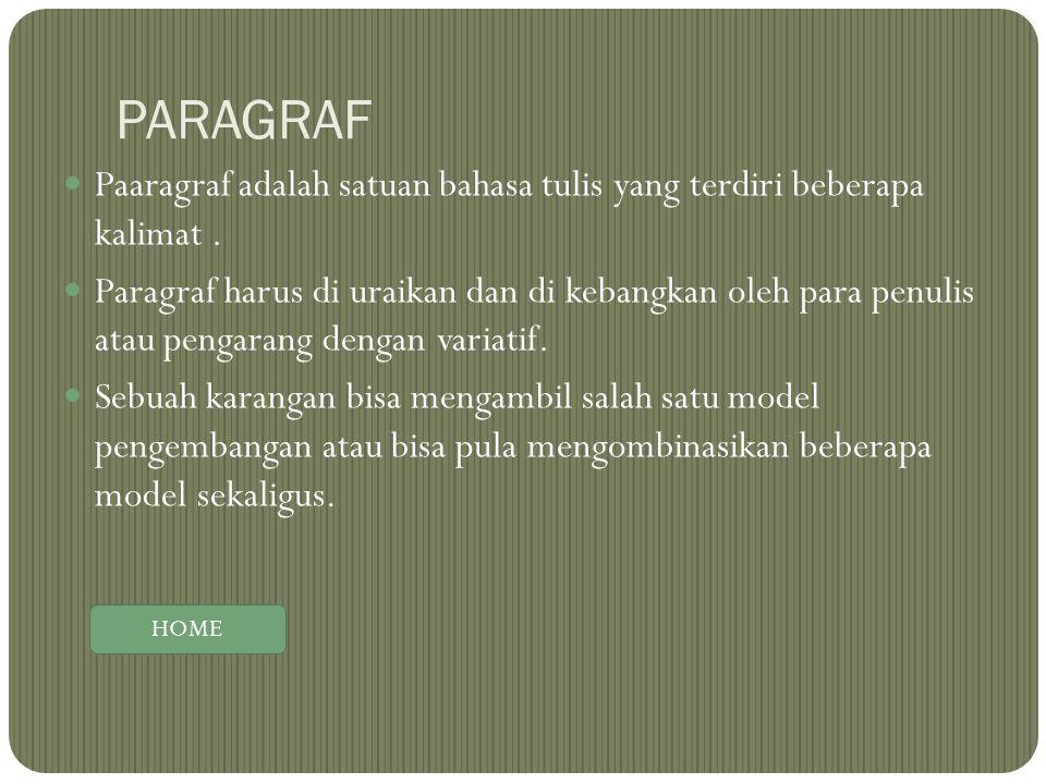 PARAGRAF Paaragraf adalah satuan bahasa tulis yang terdiri beberapa kalimat .