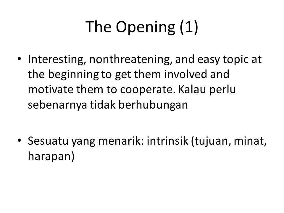The Opening (1)