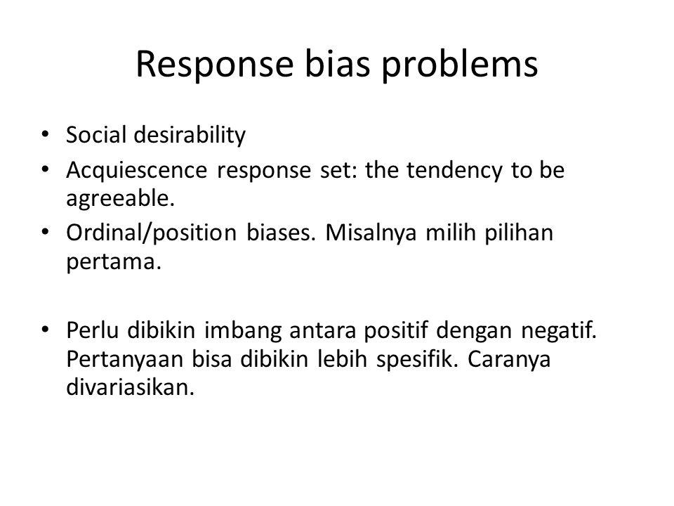 Response bias problems