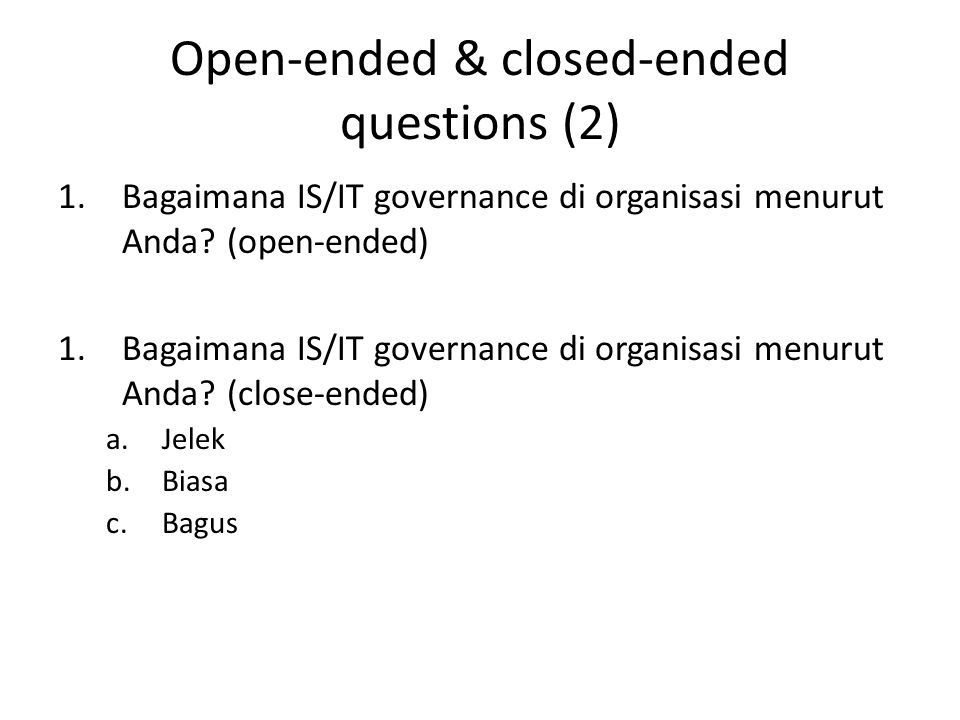 Open-ended & closed-ended questions (2)
