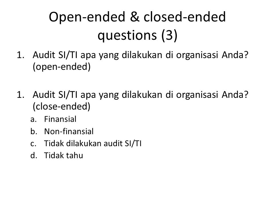 Open-ended & closed-ended questions (3)
