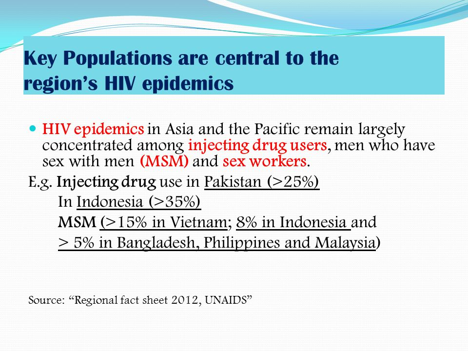 Key Populations are central to the region's HIV epidemics