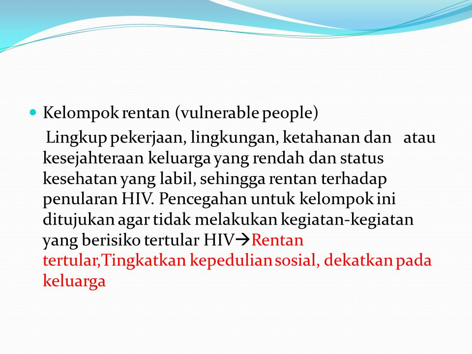 Kelompok rentan (vulnerable people)