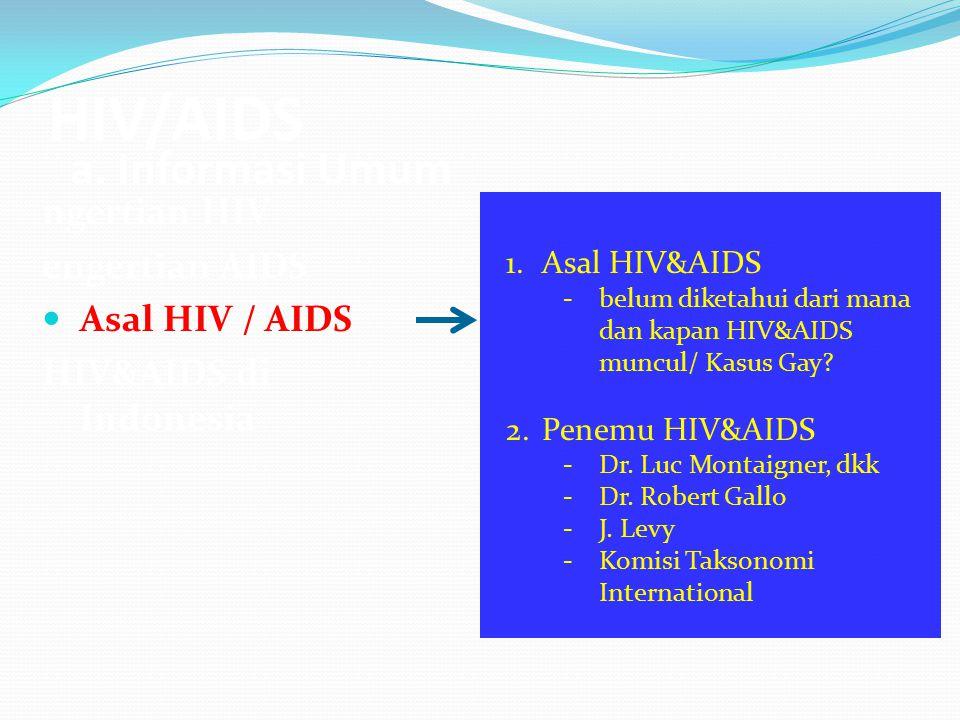 HIV/AIDS a. Informasi Umum