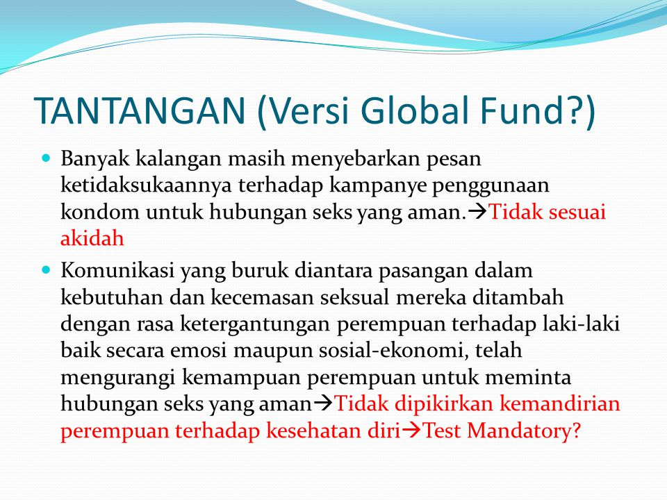 TANTANGAN (Versi Global Fund )