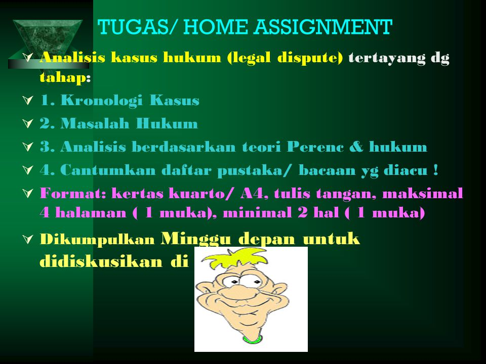 TUGAS/ HOME ASSIGNMENT