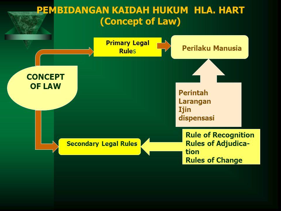 PEMBIDANGAN KAIDAH HUKUM HLA. HART (Concept of Law)