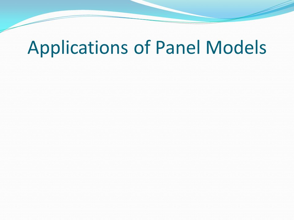 Applications of Panel Models