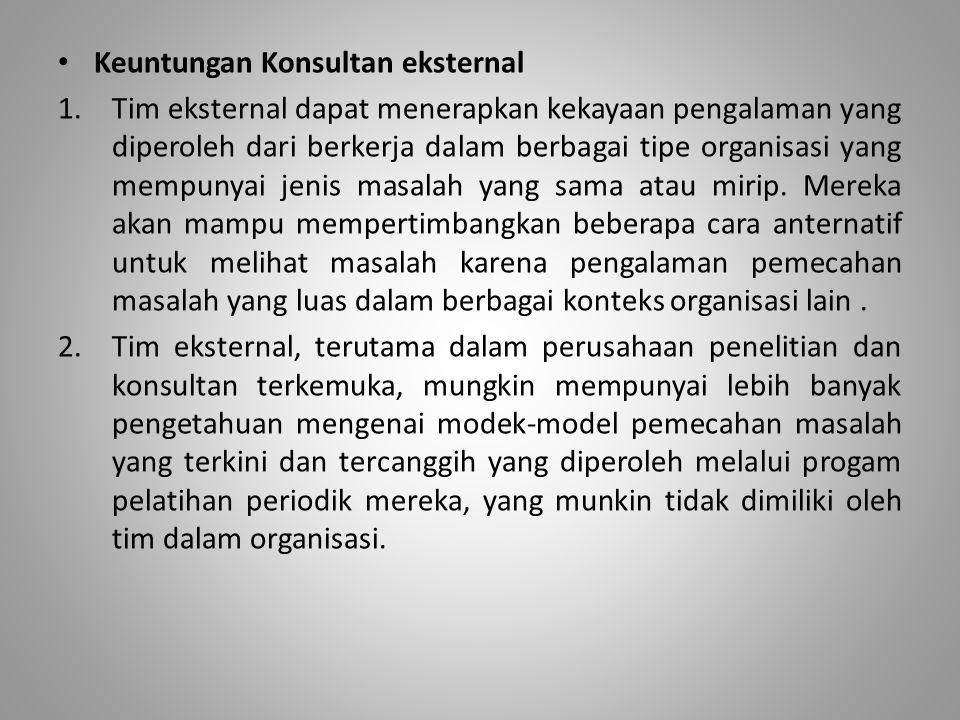 Keuntungan Konsultan eksternal